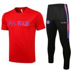 خرید ست تمرینی پاریسن ژرمن قرمز طرح پاریس